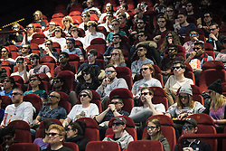 © Licensed to London News Pictures . 17/12/2015 . Manchester , UK . Crowd at a 3D screening of the film . Star Wars fans attend the midnight screening of Star Wars the Force Awakens at the AMC Great Northern cinema in Manchester City Centre . Photo credit : Joel Goodman/LNP