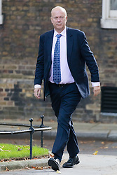 October 9, 2018 - London, London, UK - London, UK.  Chris Grayling,.Secretary of State for Transport arrives in Downing Street for a cabinet meeting. (Credit Image: © Vickie Flores/London News Pictures via ZUMA Wire)