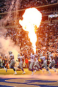 IRVING, TX - OCTOBER 23:  Fire is blazing for the Dallas Cowboys pregame player introductions at the Monday Night Football game against the New York Giants at Texas Stadium on October 23, 2006 in Irving, Texas. The Giants defeated the Cowboys 36-22. ©Paul Anthony Spinelli