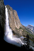 Upper Yosemite Falls and Half Dome, Yosemite National Park, California