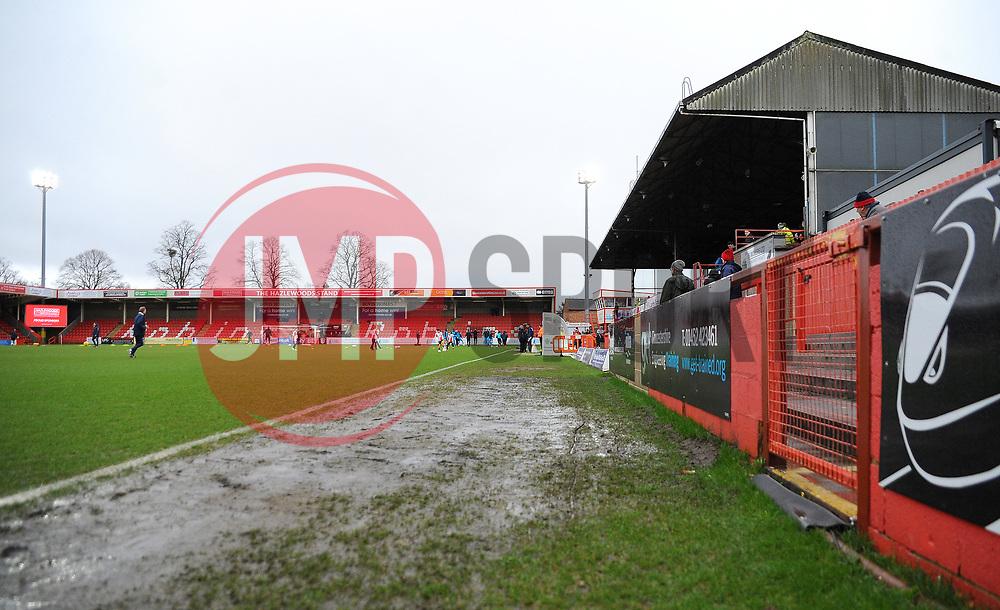 A general view of the LCI Rail Stadium- Mandatory by-line: Nizaam Jones/JMP- 27/01/2018 - FOOTBALL - LCI Rail Stadium- Cheltenham,England - Cheltenham Town v Barnet -Sky Bet League Two