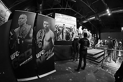 November 15, 2012; Montreal, Quebec, CAN; Atmosphere shot from the UFC 154 workouts for the UFC Welterweight Championship fight between Georges St. Pierre and Carlos Condit.  The two will meet Saturday at UFC 154 at the Bell Centre in Montreal, CAN.  Photo: Ed Mulholland