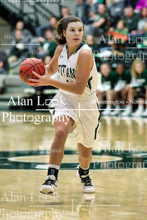 BLOOMINGTON, IL - December 15: Sydney Shanks during a college women's basketball game between the IWU Titans  and the Carroll Pioneers on December 15 2018 at Shirk Center in Bloomington, IL. (Photo by Alan Look)