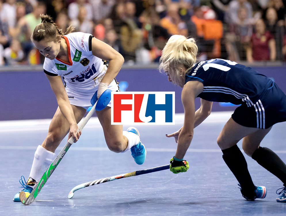 BERLIN - Indoor Hockey World Cup<br /> Semi-final: Belarus - Germany<br /> foto: Lisa Altenburg.<br /> WORLDSPORTPICS COPYRIGHT FRANK UIJLENBROEK