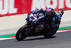July 7, 2018 - Misano, RN, Italy - Alex Lowes of Pata Yamaha Official WorldSBK Team during race 1 of the Motul FIM Superbike Championship, Riviera di Rimini Round, at Misano World Circuit ''Marco Simoncelli'', on July 07, 2018 in Misano, Italy  (Credit Image: © Danilo Di Giovanni/NurPhoto via ZUMA Press)