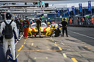 LMGTE JMW Motorsport Ferrari F458 Italia with drivers Robert Smith, Rory Butcher and Andrea Bertolini| European Le Mans Series | Silverstone Circuit | England | 16 April 2016 | Photo by Jurek Biegus.