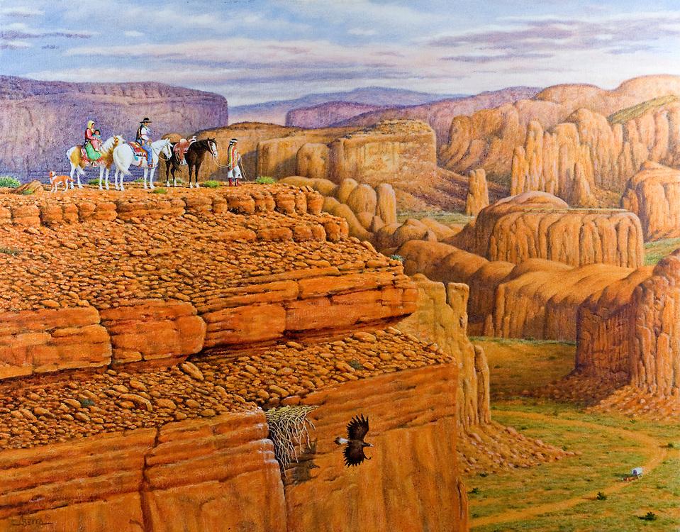 Painting by Jimmy Abeita
