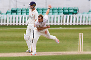 Tom Taylor bowling during the Bob Willis Trophy match between Lancashire County Cricket Club and Leicestershire County Cricket Club at Blackfinch New Road, Worcester, United Kingdom on 4 August 2020.