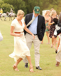 Asprey World Class Cup polo held at Hurtwood Park Polo Club, Ewhurst, Surrey on 17th July 2010.<br /> Picture shows:- PRINCE ALBERT OF MONACO  and CHARLENE WITTSTOCK.