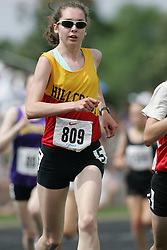 Hamilton, Ontario ---07/06/08--- Heather Slinn of Hillcrest in Ottawa competes in the 3000 meters at the 2008 OFSAA Track and Field meet in Hamilton, Ontario..Sean Burges