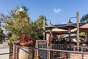 Outdoor Dining at Trevor's At The Tracks Capistrano Depot in San Juan Capistrano