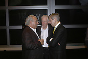 DAVID SLADE, SIR PHILIP GREEN AND STUART ROS, Westfield launch at the BFC tent prior toLondon Fashion week. 17 September 2006. ONE TIME USE ONLY - DO NOT ARCHIVE  © Copyright Photograph by Dafydd Jones 66 Stockwell Park Rd. London SW9 0DA Tel 020 7733 0108 www.dafjones.com