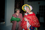 PHILLIPA PERRY; GRAYSON PERRY;; .  demons, yarns and tales. Tapestries by Contemporary Artists. Exhibition curated by Banners of Persuasion. The Dairy, Wakefield st. WC1. 11 November 2008.  *** Local Caption *** -DO NOT ARCHIVE -Copyright Photograph by Dafydd Jones. 248 Clapham Rd. London SW9 0PZ. Tel 0207 820 0771. www.dafjones.com