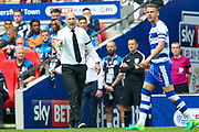 Reading first team manager Jaap Stam  during the EFL Sky Bet Championship play off final match between Huddersfield Town and Reading at Wembley Stadium, London, England on 29 May 2017. Photo by Simon Davies.