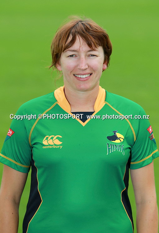 Esther Lanser. Central Hinds head shots, Bert Sutcliffe Oval, Lincoln University, Thursday 29 December 2011. Photo : Joseph Johnson / photosport.co.nz