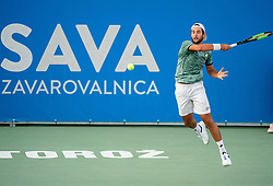 Viktor Durasovic of Norway playing semifinal match during Day 9 of ATP Challenger Zavarovalnica Sava Slovenia Open 2019, on August 17, 2019 in Sports centre, Portoroz/Portorose, Slovenia. Photo by Matic Klansek Velej / Sportida