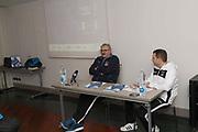 Romeo Meo Sacchetti, Francesco D Aniello<br /> Nazionale Italiana Maschile Senior - Conferenza Stampa Presentazione Italia - Romania<br /> FIP 2017<br /> Torino, 23/11/2017<br /> Foto M.Ceretti / Ciamillo-Castoria