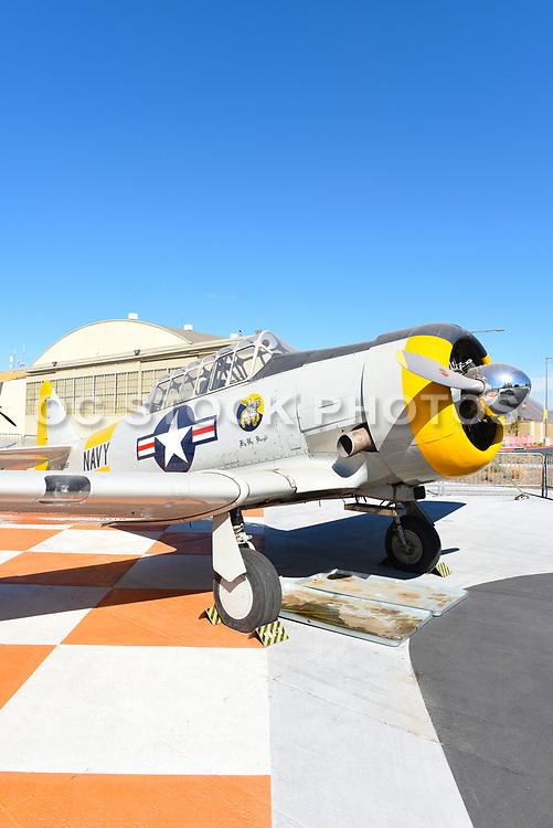 NJ-5 Texan WWII Era Plane At The Orange County Great Park