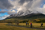 Hikers in Torres del Paine National Park, Patagonia