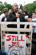 Nicole Paultre-Bell, Rev. Al Sharpton and Sean Bell's Father, William Bell at the Critical Mass and The National Action Network(NAN) join forces for The Critical Mass monthly civil disobedience ride to protest the Not Gulity verdict of NYPD shooting death of Sean Bell, and critically injuring Joseph Guzman and Trent Benefield at 14th Streeet Union Square on May 30, 2008 ..Critical Mass is an event typically held on the last Friday of every month in cities around the world where bicyclists and other self-propelled commuters take to the streets en masse. While the ride was originally founded with the idea of drawing attention to how unfriendly the city was to bicyclists,[1] the leaderless structure of Critical Mass makes it impossible to assign it any one specific goal. In fact, the purpose of Critical Mass is not formalized beyond the direct action of meeting at a set location and time and traveling as a group through city or town streets.