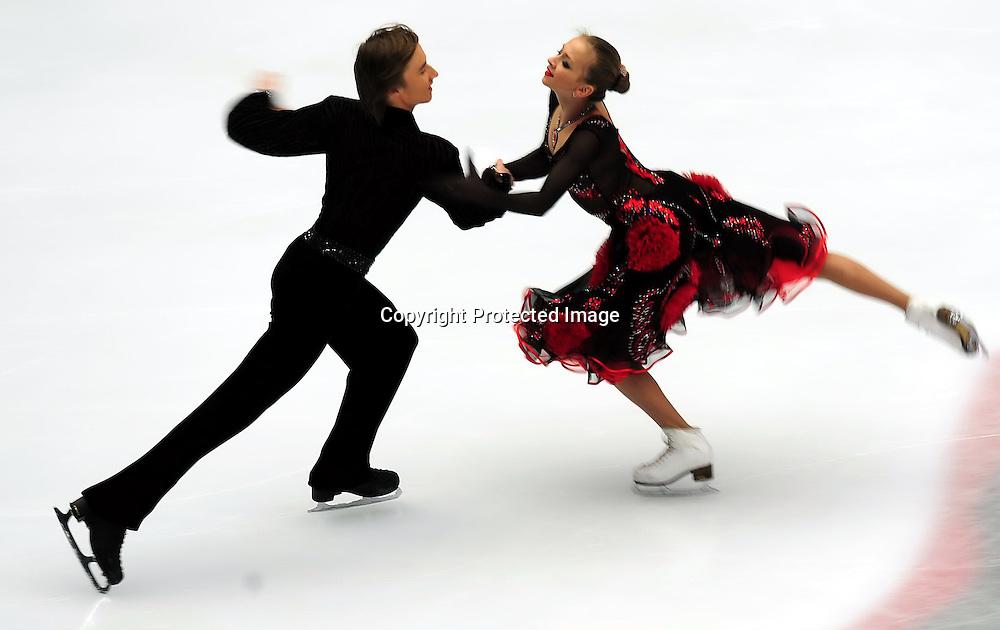 Dec 09, 2010; Beijing, CHINA; compete in the Junior Ice Dance short dance event of the ISU Grand Prix Final.