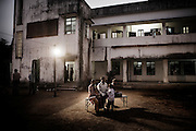 Christian refugees relax at YMCA relief comittee  in Orissa's capital Bhubaneswar. .Nov. 04 2008.
