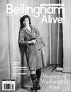 Mary Derby of winemaker and owner of DAMA wine photographed by Kathryn Elsesser for the Walla Walla women and wine calendar used for the cover of Bellingham Alive June 2016