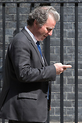 Downing Street, London, May 17th 2016. Chancellor of the Duchy of Lancaster and Policy Advisor Oliver Letwin leaves the weekly cabinet meeting in Downing Street.