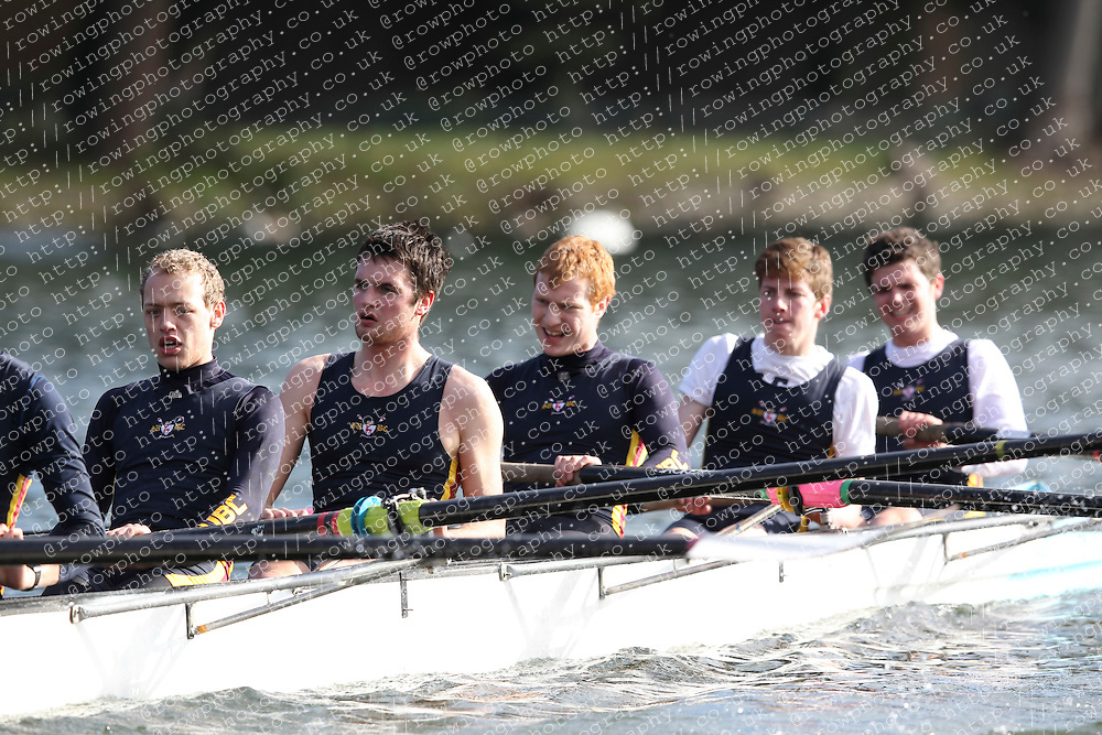 2012.02.25 Reading University Head 2012. The River Thames. Division 1. Southampton University Boat Club C IM3 8+