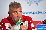 Warsaw, Poland - 2017 October 03: Ryszard Stadniuk (President of Polish Rowing Association) attends press conference of Polish Rowing National Team at Chopin Airport on October 03, 2017 in Warsaw, Poland.<br /> <br /> Mandatory credit:<br /> Photo by &copy; Adam Nurkiewicz / Mediasport<br /> <br /> Adam Nurkiewicz declares that he has no rights to the image of people at the photographs of his authorship.<br /> <br /> Picture also available in RAW (NEF) or TIFF format on special request.<br /> <br /> Any editorial, commercial or promotional use requires written permission from the author of image.