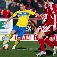 Aberdeen v St Johnstone....19.02.12   SPL<br /> Lee Croft is closed down<br /> Picture by Graeme Hart.<br /> Copyright Perthshire Picture Agency<br /> Tel: 01738 623350  Mobile: 07990 594431