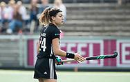 AMSTELVEEN - Eva de Goede (A'dam)  bij   Amsterdam-Huizen (4-1), competitie Hoofdklasse hockey dames   (2017-2018) .COPYRIGHT KOEN SUYK