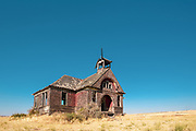 Old schoolhouse in Govan, Washington.