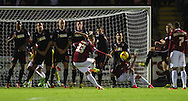 Picture by David Horn/Focus Images Ltd +44 7545 970036<br /> 16/11/2013<br /> Luke Norris of Northampton Town scores his team's first goal to make it 1-0 during the Sky Bet League 2 match at Sixfields Stadium, Northampton.