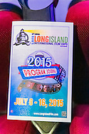 Bellmore, New York, USA. 16th July 2015. A 2015 Program Journal is on each theater seat at the LIIFE Awards Ceremony at Bellmore Movies. It was the 18th Long Island International Film Expo.