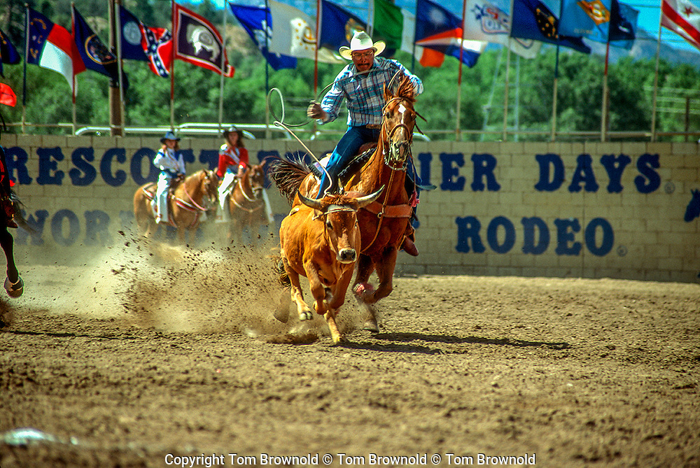 Rodeo event ; Steer wrestling