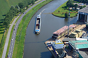 Nederland, Groningen, Gemeente Hoogezand-Sappemeer, 27-08-2013; Foxhol, scheepswerf De Hoop Foxhol. Werf voor bouw van zeeschepen met karakteristiek dwarshelling.<br /> De Hoop Foxhol  Shipyards. Yard for sea vessels, sideway-launching yard.<br /> luchtfoto (toeslag op standaard tarieven);<br /> aerial photo (additional fee required);<br /> copyright foto/photo Siebe Swart.