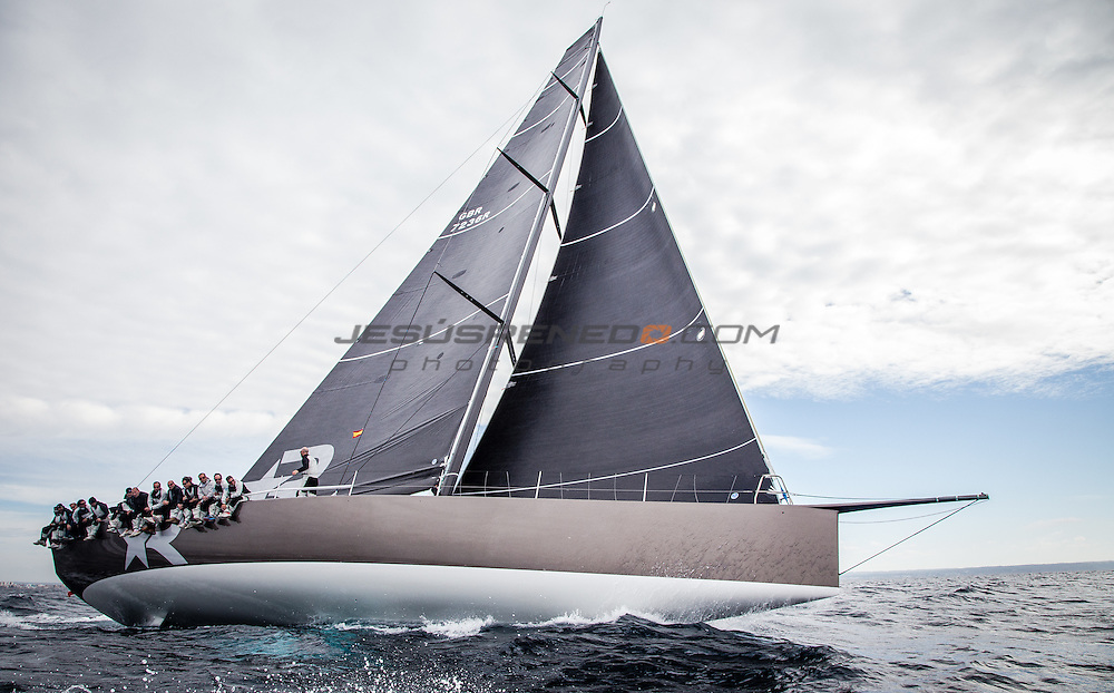 "Maxi 72 ""Robertissima III "" training in Palma for the 2015 season."