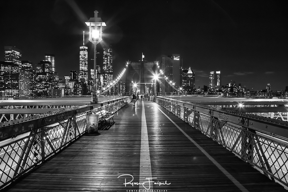 I could walk this route for miles, or at least the length of the bridge.  It was a beautiful night and a great way to see the city of New York come alive at night.
