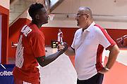 Awudu Abass Jasmin Repesa <br /> Allenamento EA7 Emporio Armani Olimpia Milano <br /> Lega Basket Serie A 2016/2017<br /> Milano 18/08/2016<br /> Foto Ciamillo-Castoria