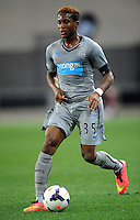 Newcastle United's Rolando Aarons against Sydney FC in the first match of the Football United Tour at Forsyth Barr Stadium, Dunedin, New Zealand, Tuesday, July 22, 2014.