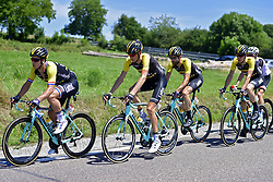 July 6, 2017 - Troyes, France - TROYES, FRANCE - JULY 6 : GROENEWEGEN Dylan (NED) Rider of Team Lotto NL - Jumbo, GESINK Robert (NED) Rider of Team Lotto NL - Jumbo, LEEZER Thomas (NED) Rider of Team Lotto NL - Jumbo and VAN EMDEN Jos (NED) Rider of Team Lotto NL - Jumbo in action during stage 6 of the 104th edition of the 2017 Tour de France cycling race, a stage of 216 kms between Vesoul and Troyes on July 06, 2017 in Troyes, France, 6/07/2017 (Credit Image: © Panoramic via ZUMA Press)