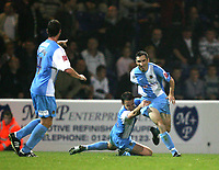 Photo: Paul Greenwood.<br />Chester City v Hereford United. Coca Cola League 2. 12/10/2007.<br />Chester's Simon Yeo (R) celebrates scoring the first goal