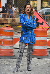 Rita Ora filming a music video in the Meat Packing District in New York City, NY, USA on October 5, 2017. Photo by ABACAPRESS.COM  | 610097_033 New York City Etats-Unis United States