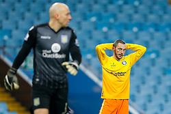 Michael Harriman of Wycombe Wanderers looks frustrated - Mandatory byline: Rogan Thomson/JMP - 19/01/2016 - FOOTBALL - Villa Park Stadium - Birmingham, England - Aston Villa v Wycombe Wanderers - FA Cup Third Round Replay.