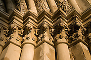 Columns with ornaments in the Premonstratensian abbey. Tepla. Czech republic.