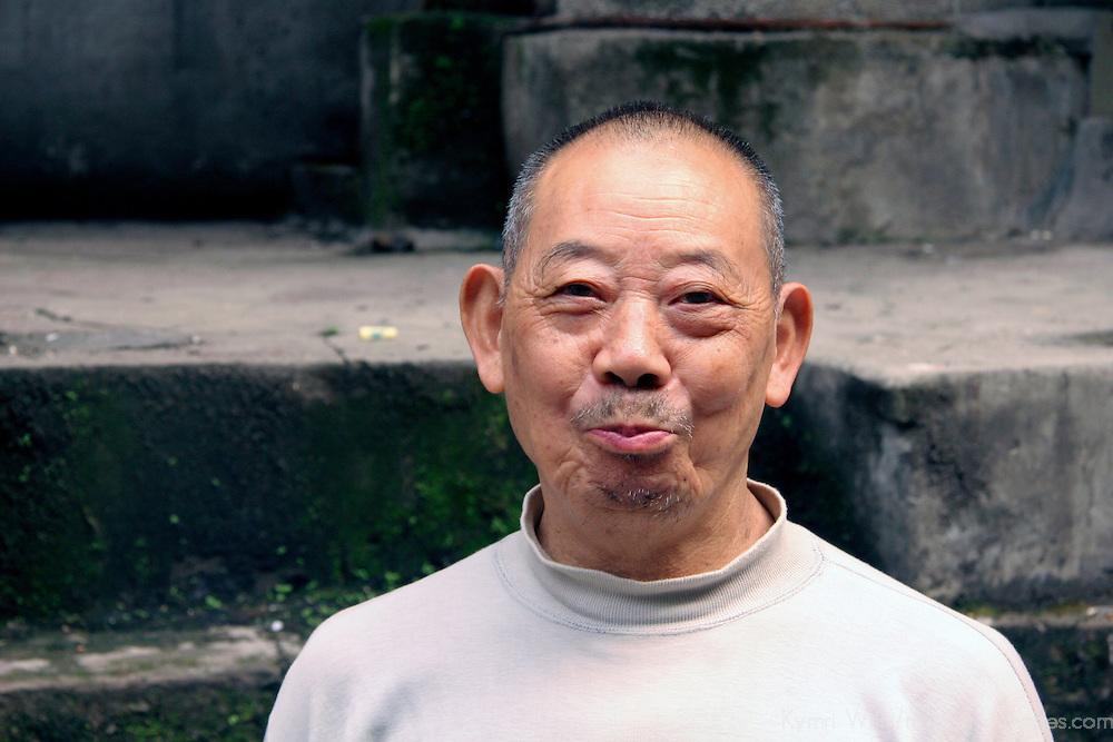 Asia, China, Chongqing. Portrait of Chinese male.