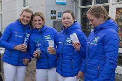 Bavaria 0.0 Eventing Team, Pen Elaine, Larisa Hartkamp, De Jong Sanne, Van de Kuylen Joyce<br /> © Hippo Foto - Dirk Caremans<br /> 15/02/2017