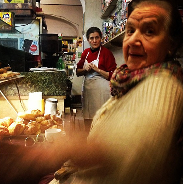 """Rome 2015: The old ladies, owners of one of the oldest bar in Rome, """"Il baretto""""."""
