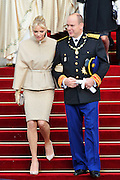 19.NOVEMBER.2011. MONACO<br /> <br /> PRINCE ALBERT II OF MONACO AND WIFE PRINCESS CHARLENE AT CELEBRATIONS FOR THE NATIONAL DAY OF MONACO, IN MONACO.<br /> <br /> BYLINE: EDBIMAGEARCHIVE.COM<br /> <br /> *THIS IMAGE IS STRICTLY FOR UK NEWSPAPERS AND MAGAZINES ONLY*<br /> *FOR WORLD WIDE SALES AND WEB USE PLEASE CONTACT EDBIMAGEARCHIVE - 0208 954 5968*